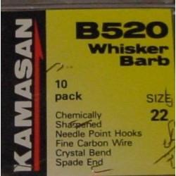 Kamasan B520 Whisker Barb Spade End Hooks