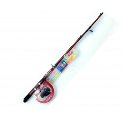 Red Bone Junior Spin Kit with Tackle pack