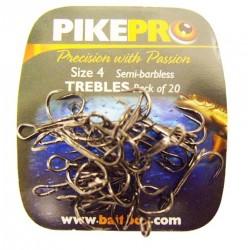 Pike Pro Semi Barbless Treble Hooks