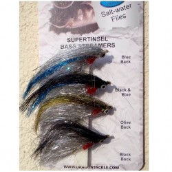 Dragon Selection of Supertinsel Bass Streamers