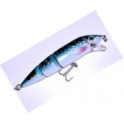 Viper Double Jointed Bass Plug Blue Mackerel