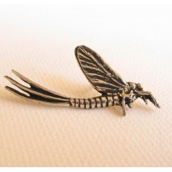Pewter Fishing Pin Mayfly