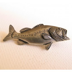 Pewter Fishing Badge Bass