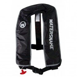 Jarvis Walker Watersnake Auto Lifejackets With Harness Black