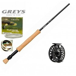 Greys GR10 Fly Rod GX300 Reel Line Combo