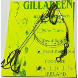 Gilladeen Irish Pike Dead Bait Rig 4 pack