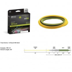 Rio In Touch Gold Fly Line WFF Moss /Gray/Gold