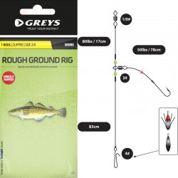Greys Rough Ground Beach Rigs 1 Hook Clipped