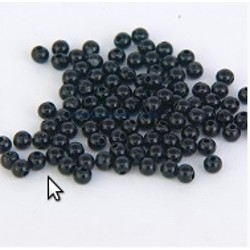 Gemini 3mm Black Beads