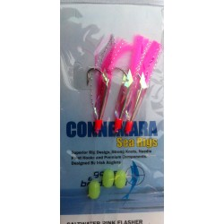 Gowen and Bradshaw Connemara Saltwater Pink Flasher 3 hook 4/0