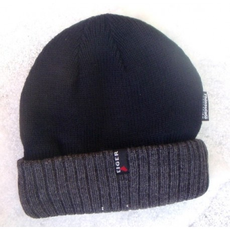 Eiger Hat Two Tone Tightly Knitted Monkey Hat henrys