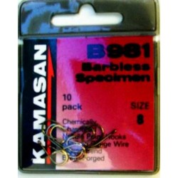 Kamasan B981 Barbless Eyed Hooks