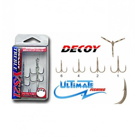 Decoy YS21 Treble Hooks henrys