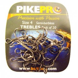 Pike Pro Semi Barbless Treble Hooks