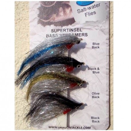 Dragon Selection of Supertinsel Bass Streamers henrys