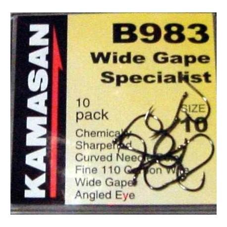 Kamasan B983 Wide Gape Coarse Hooks henrys