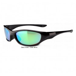 Flying Fisherman Cabo Polarised Sunglasses Black Amber Green Mirror