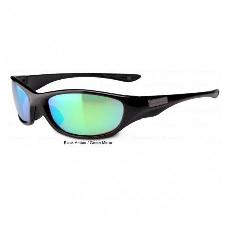 Flying Fisherman Cabo Polarised Sunglasses Black Amber Green Mirror henrys