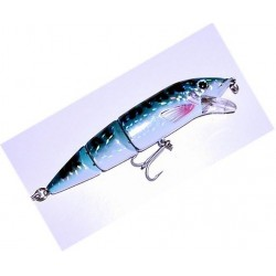 Viper Double Jointed Bass Plug Blue Mackerel
