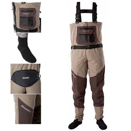 Snowbee Prestige ST Stocking Foot Breathable Chest Waders henrys