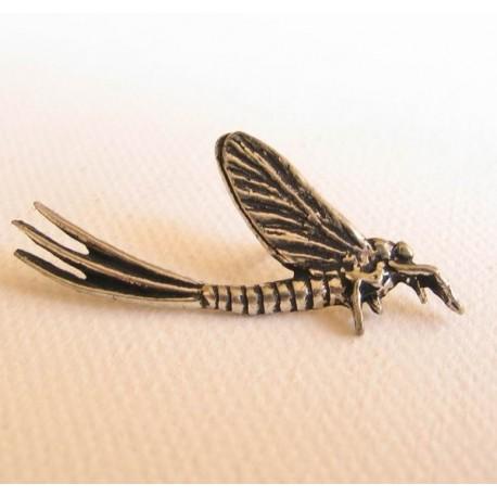 Pewter Fishing Pin Mayfly henrys