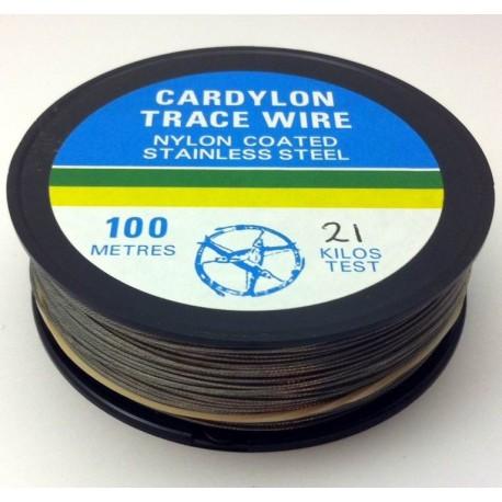 Bulk Spool 100m of Nylon Coated Wire 21kg henrys