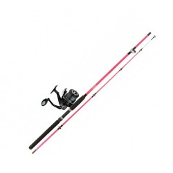 Jarvis Walker Vixen Pink 8ft Girls Sea Spin Combo