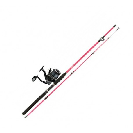 Jarvis Walker Vixen Pink 8ft Girls Sea Spin Combo henrys