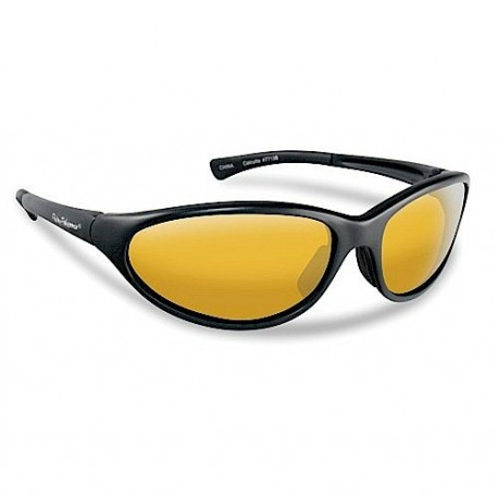Flying Fisherman Calcutta Sunglasses Black Yellow Amber henrys