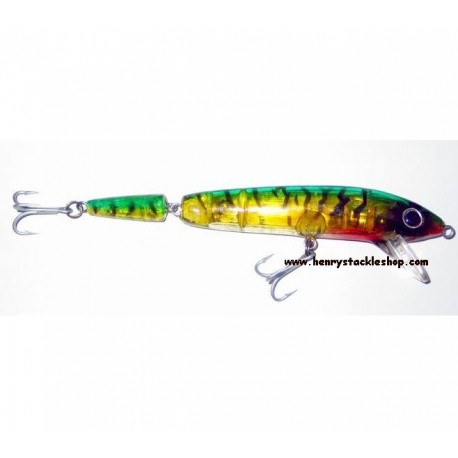 Shamrock Shallow Bass Jointed Lure Mackerel LED Flash Head henrys