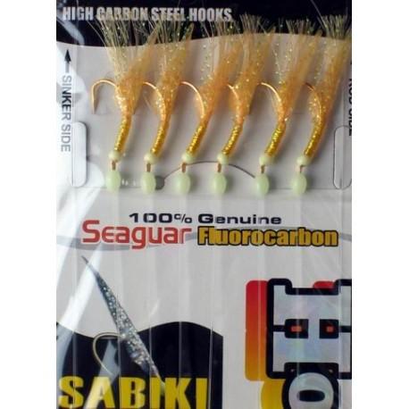 Hayabusa Gold Flasher Sabiki EX111 Size 16 henrys