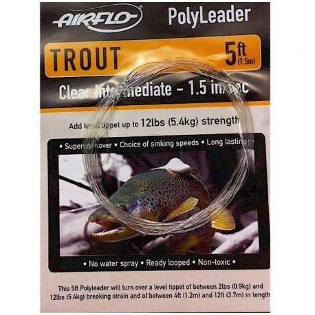 Airflo Polyleader Trout Clear Intermediate henrys