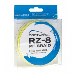 Cortland RZ8 PE Braid 150yds Hi Viz Yellow