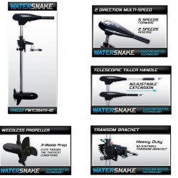 Watersnake Tracer 54lb Thrust ElectricTrolling MotorEngine