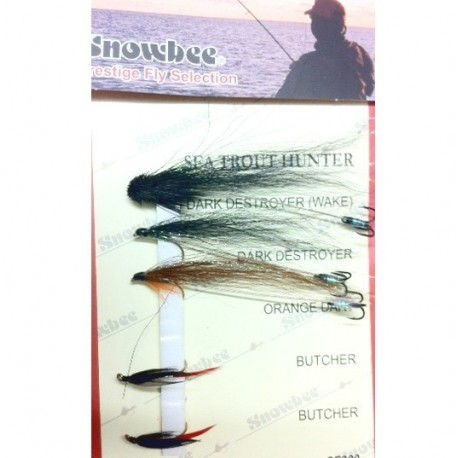 Snowbee Sea Trout Hunter Fly Selection henrys