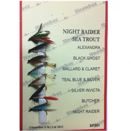 Snowbee Night Raider Sea Trout Fly Selection henrys