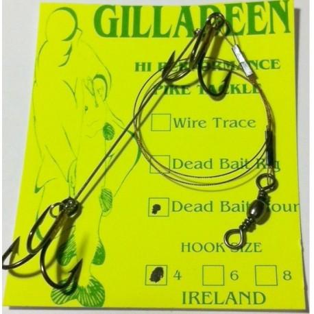 Gilladeen Irish Pike Dead Bait Rig 4 pack henrys