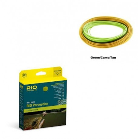 Rio In Touch Perception Fly Line Green Camo Tan henrys