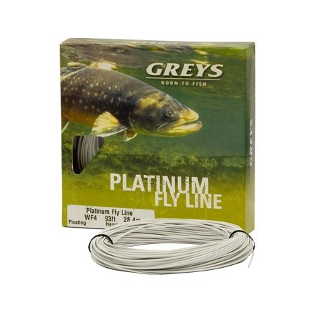 Greys Platinum WF7 Intermediate Floating Grey Hi-Vis Fly Line henrys