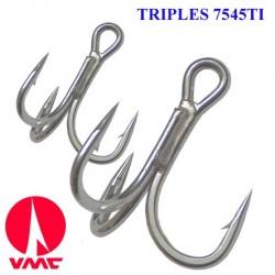 Vmc 7545 Spark Point Tinned Sea Treble Hooks