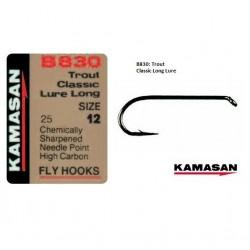 Kamasan B830 Classic Lure Long Shank Fly Hooks