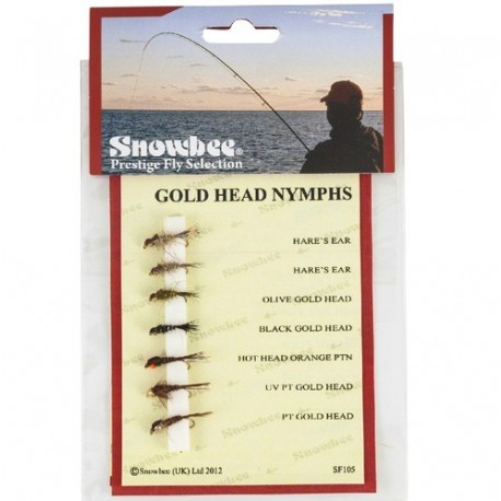 Snowbee  Gold Head Nymphs Fly Selection henrys