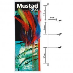 Mustad Coloured Cod Feather Trace 6/0