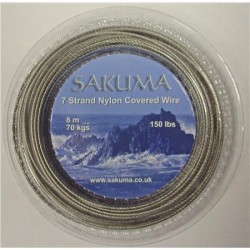 Sakuma Nylon Covered Stainless Trace Wire & Crimps