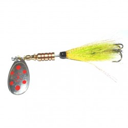 Ilba Tondo Tube Fly Spinner Lemon Sil Red Dot