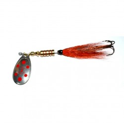 Ilba Tondo Tubefly Spinner Orange Sil Red Dot