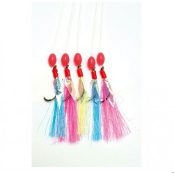 Tsunami Pro Rainbow Sabiki Mackerel Feather Rig 10 for 10 Euro Deal