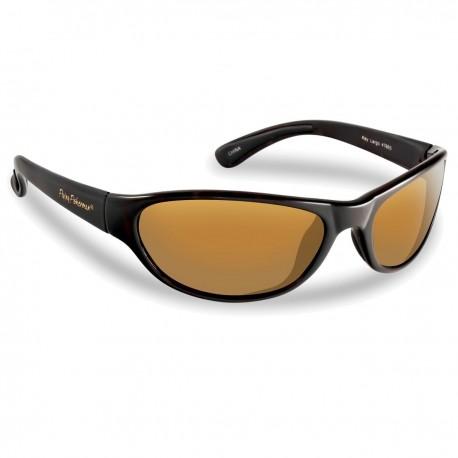 Flying Fisherman Polarised Sunglasses Key Largo Black Amber henrys