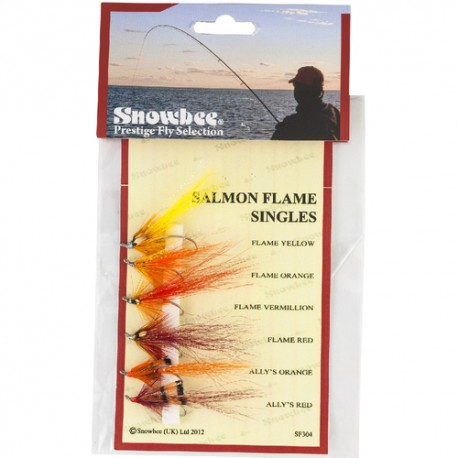 Snowbee Salmon Flame Singles Fly Selection henrys