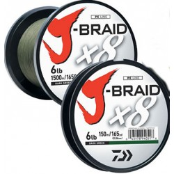 Daiwa J-Braid Braided Line 1500m Dark Green